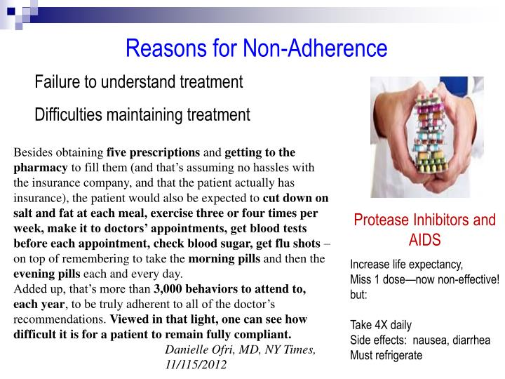 Reasons for Non-Adherence