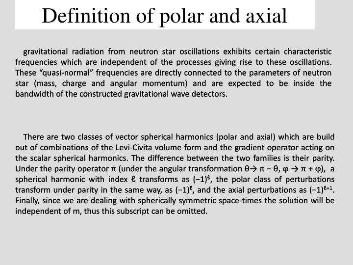 Definition of polar and axial