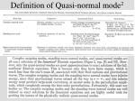 definition of quasi normal mode 2