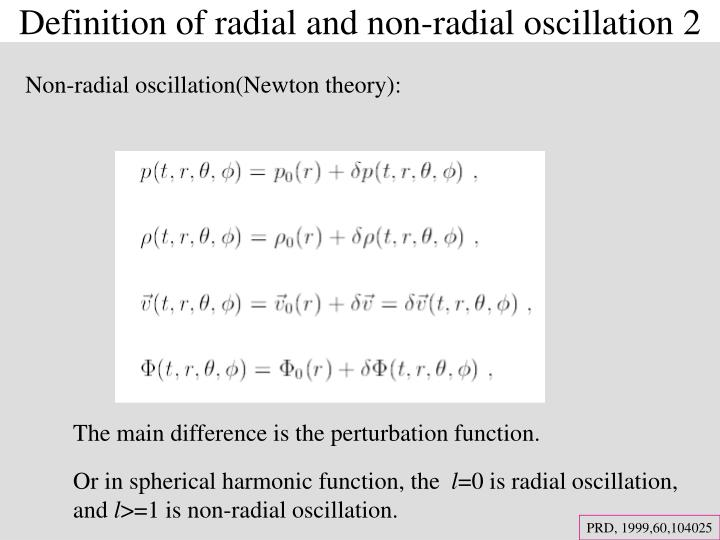 Definition of radial and non-radial oscillation 2