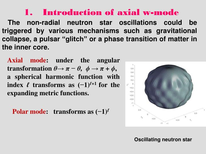 Introduction of axial w-mode