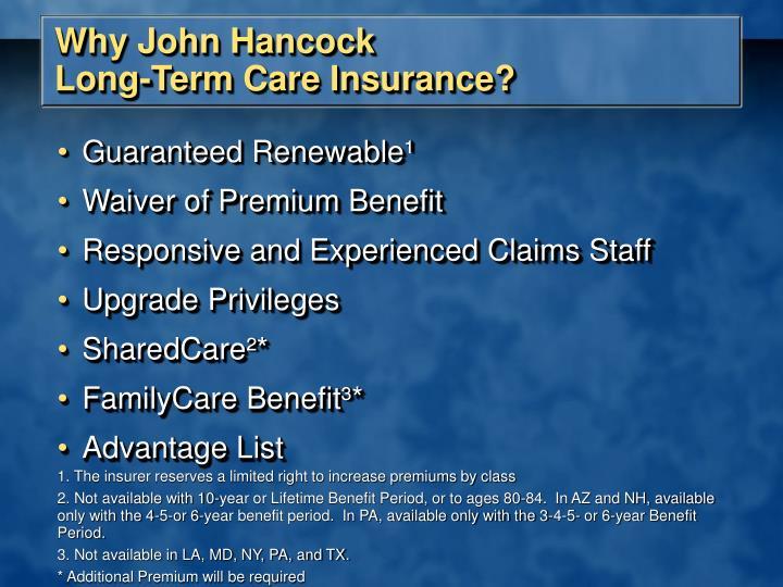Why John Hancock