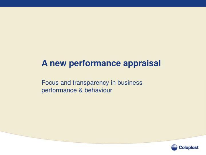 A new performance appraisal