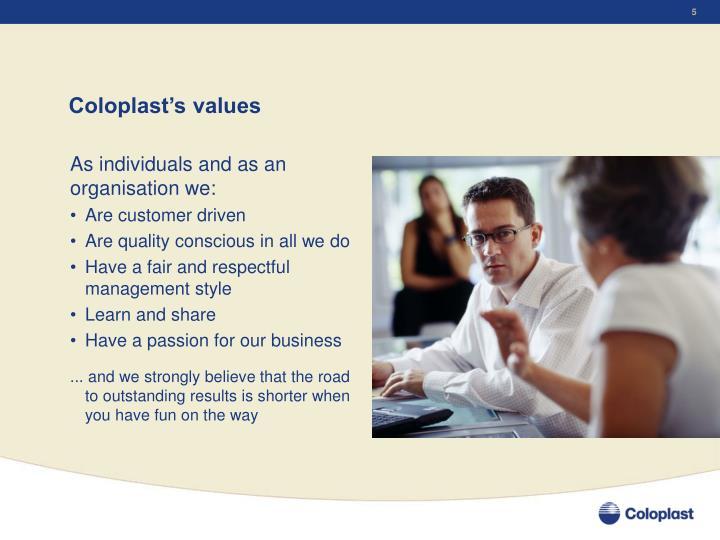 Coloplast's values