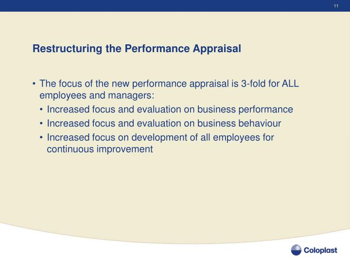 Restructuring the Performance Appraisal