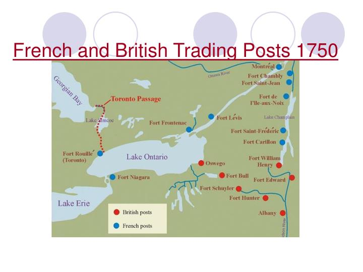 French and British Trading Posts 1750