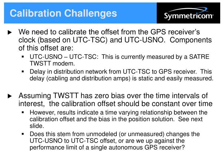 Calibration Challenges