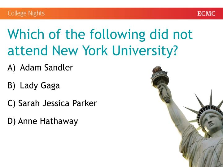 Which of the following did not attend New York University?