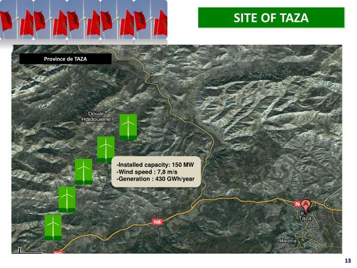 SITE OF TAZA