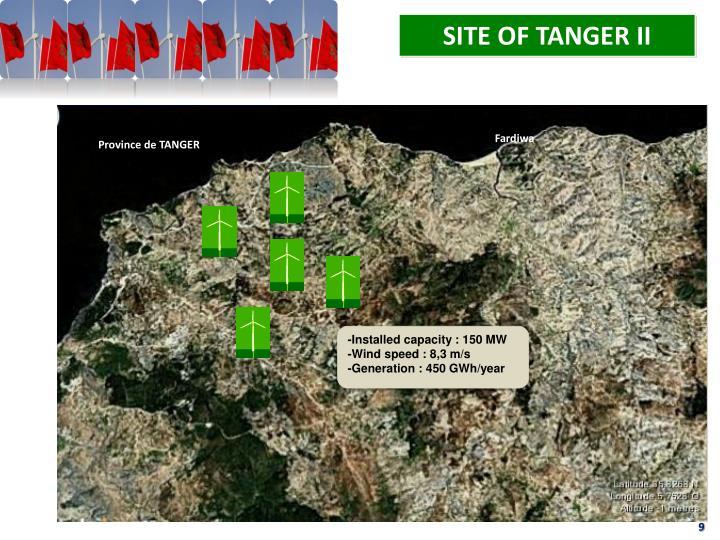 SITE OF TANGER II