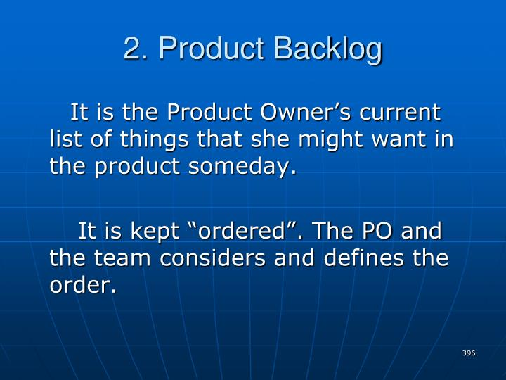 2. Product Backlog