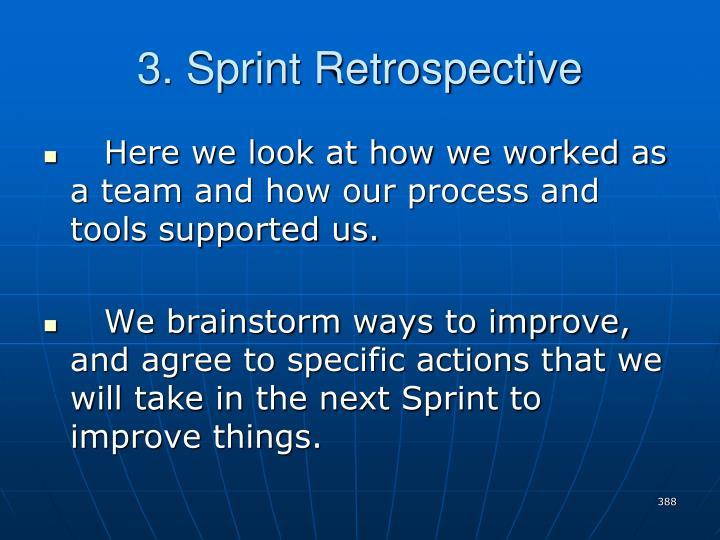 3. Sprint Retrospective
