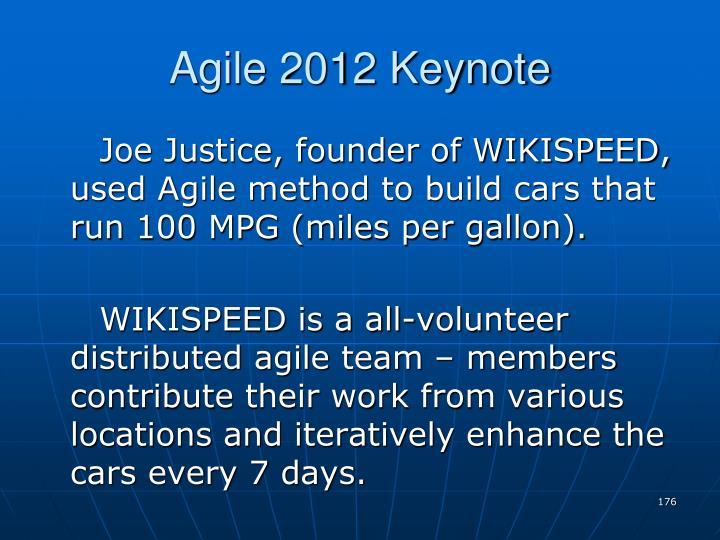 Agile 2012 Keynote