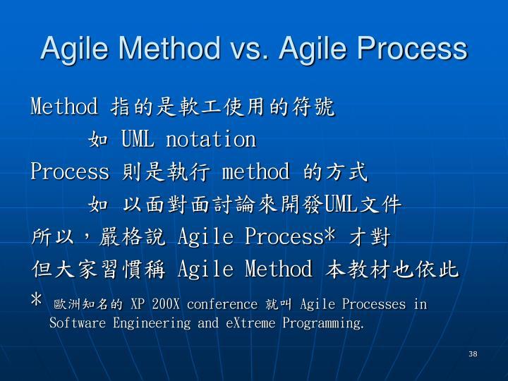 Agile Method vs. Agile Process
