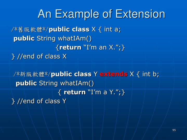 An Example of Extension