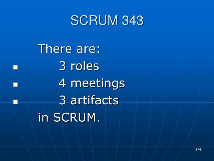 SCRUM 343