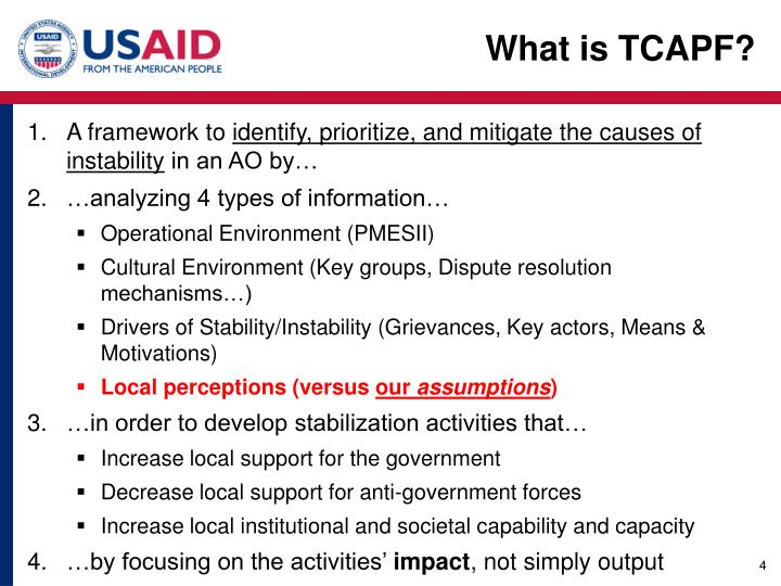 What is TCAPF?