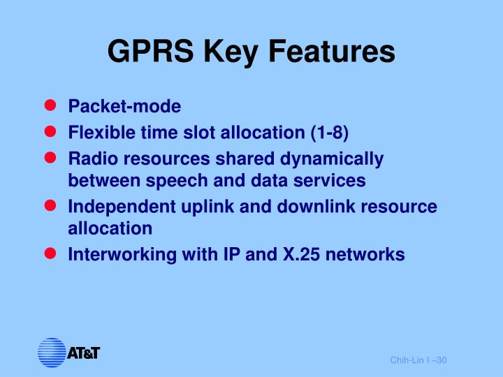 GPRS Key Features