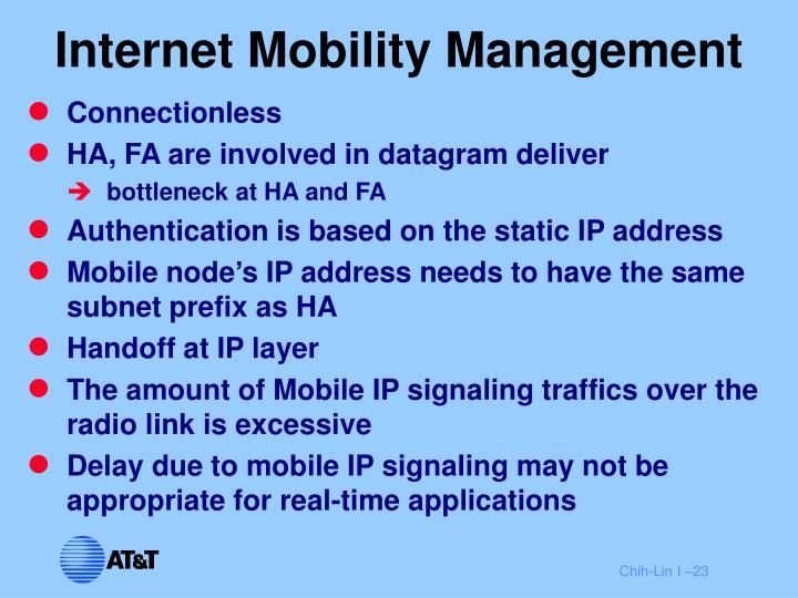 Internet Mobility Management