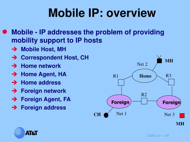 Mobile IP: overview