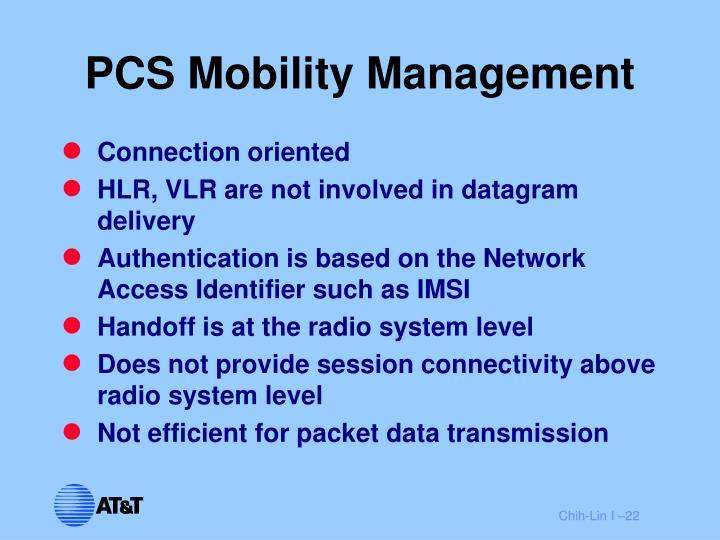 PCS Mobility Management