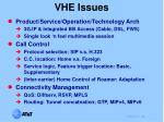 vhe issues