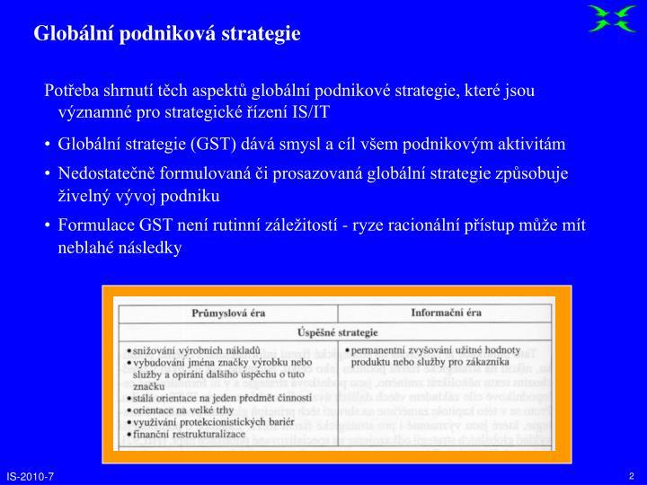 Globální podniková strategie
