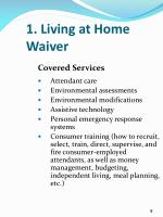 1 living at home waiver1