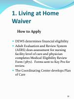1 living at home waiver4