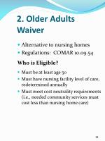 2 older adults waiver