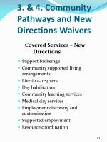 3 4 community pathways and new directions waivers5