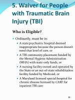5 waiver for people with traumatic brain injury tbi2