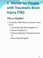 5 waiver for people with traumatic brain injury tbi3