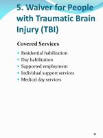 5 waiver for people with traumatic brain injury tbi4