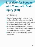 5 waiver for people with traumatic brain injury tbi5