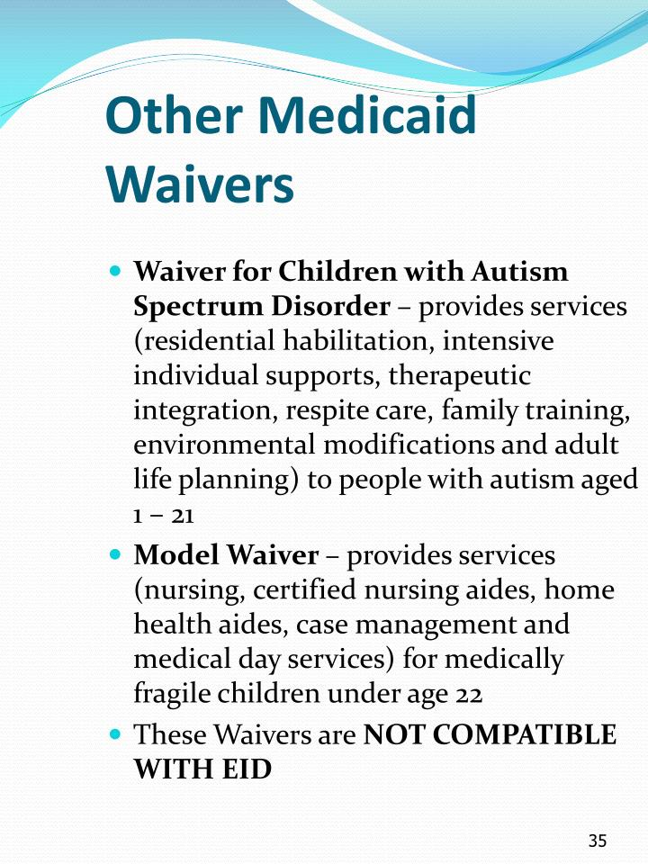 Other Medicaid Waivers