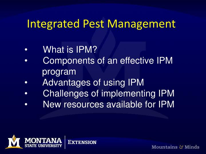 Integrated pest management1