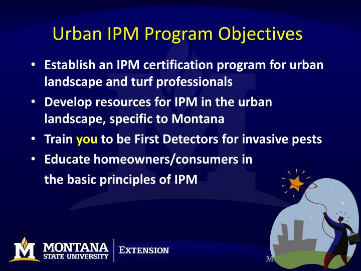 Urban IPM Program Objectives