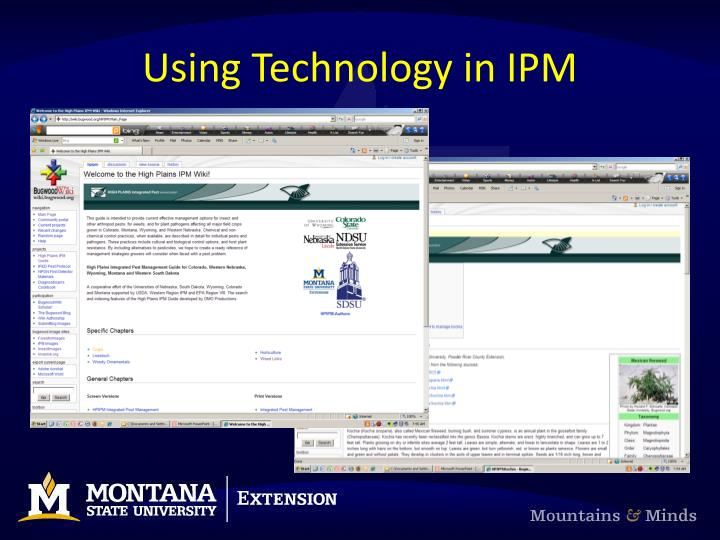 Using Technology in IPM