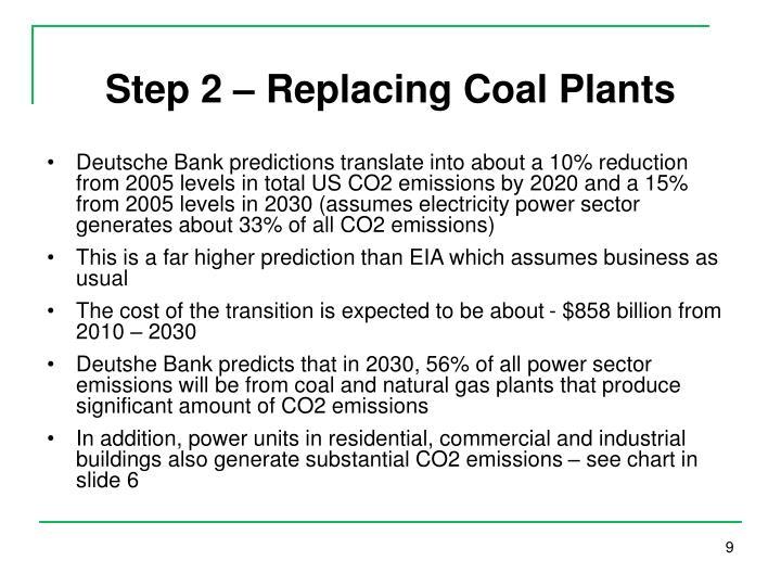 Step 2 – Replacing Coal Plants