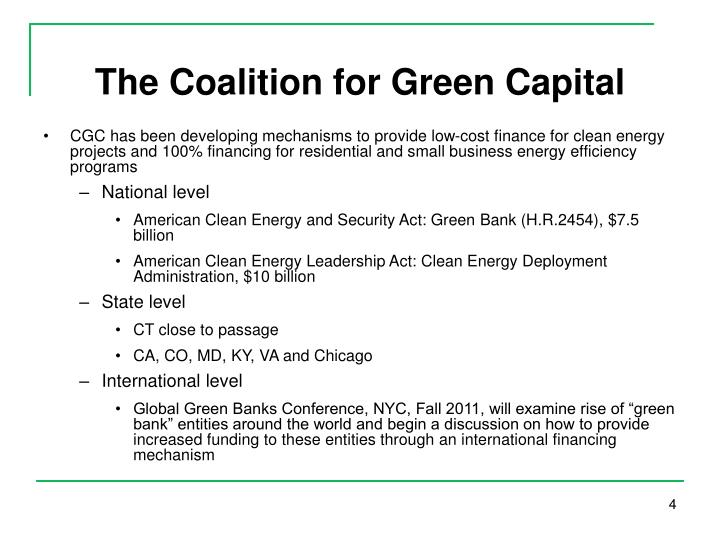 The Coalition for Green Capital