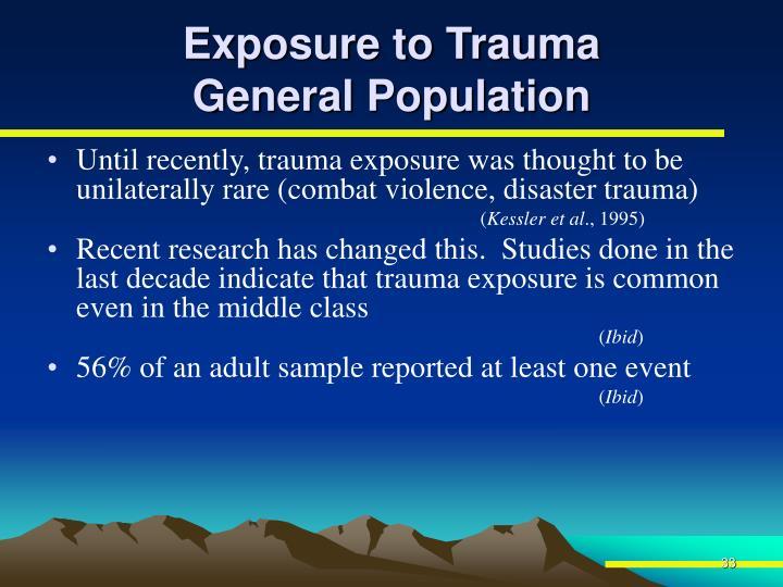 Exposure to Trauma