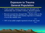 exposure to trauma general population