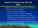 impact of trauma over the life span