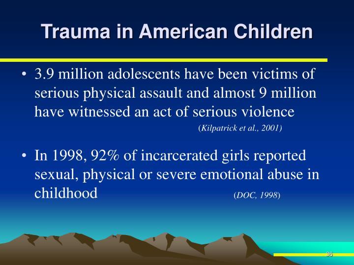 Trauma in American Children