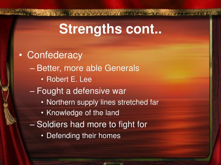 Strengths cont..