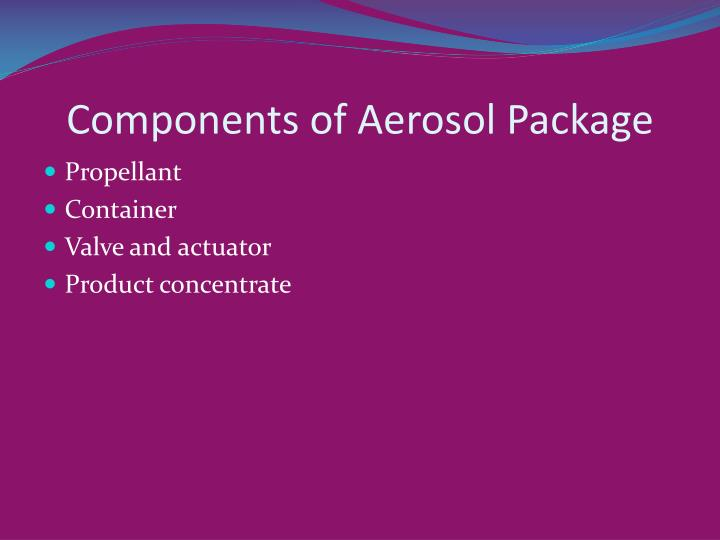 Components of Aerosol Package