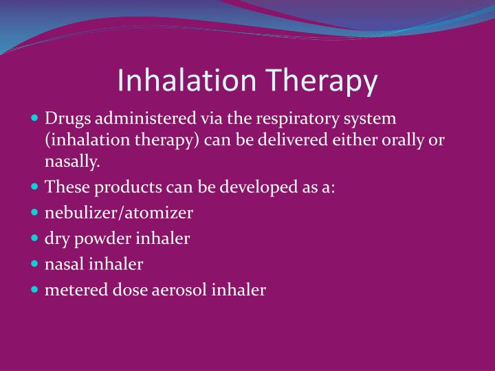 Inhalation Therapy