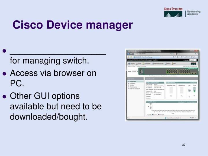 Cisco Device manager