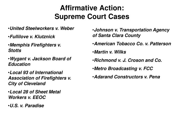 Affirmative Action: